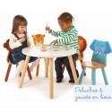 Pack 2 chaises en bois  Jungle Mobilier Enfant Tidlo Elephant Leopard