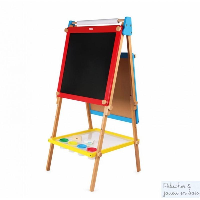 chevalet en bois tableau magnetique 2 faces accessoires pour dessiner. Black Bedroom Furniture Sets. Home Design Ideas