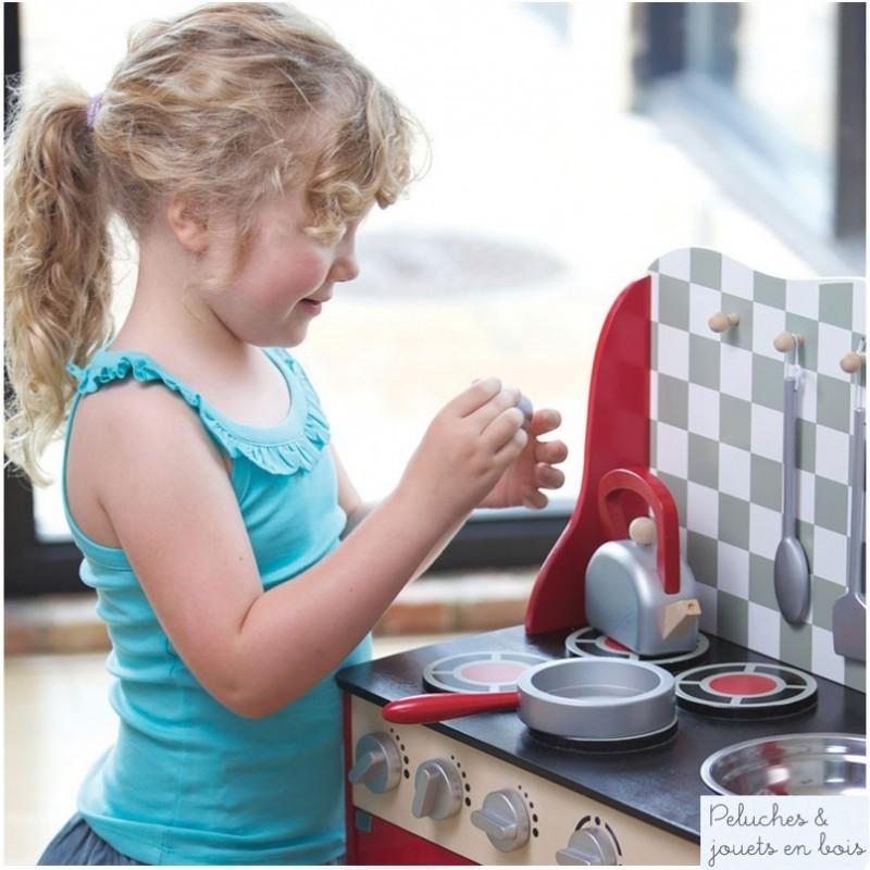 cuisine en bois jouet peint vier four 4 plaques jouet. Black Bedroom Furniture Sets. Home Design Ideas