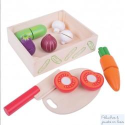 Caisse de légumes à découper jouet en bois Bigjigs BJ473