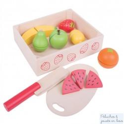 Caisse de Fruits à découper jouet en bois Bigjigs BJ472