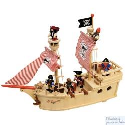 bateau de pirate en bois Tidlo