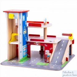 Bigjigs Mon garage-parking de centre ville en bois
