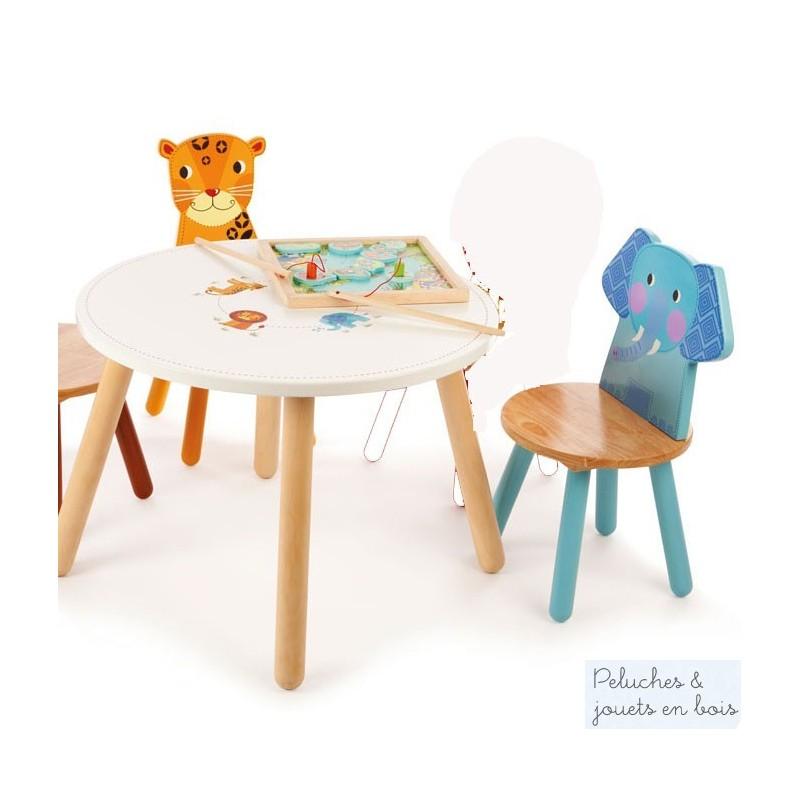 Meuble Denfant En Bois Massif Table Et Chaise Assorties