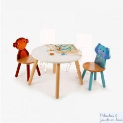 Pack 2 chaises en bois  Jungle Mobilier Enfant Tidlo T0202 T0203
