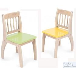 Pack 2 chaises en bois Pastel Mobilier Enfant Tidlo T0232 T0234
