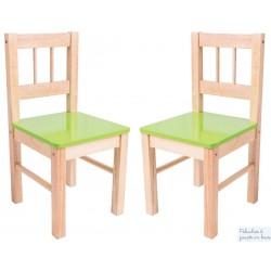 Chaise avec assise verte Mobilier couleur Enfant Bigjigs en bois naturel BJ252
