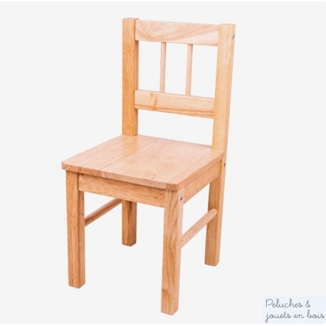 Chaise d'enfant Collection bois massif naturel Bigjigs