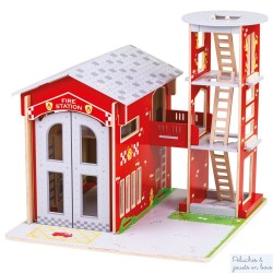 Grande Caserne de pompiers de ville Univers de jeu en bois Bigjigs JT156