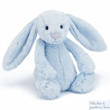 Grand lapin peluche bleu