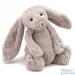 Grand lapin peluche taupe