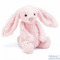 Grand lapin peluche rose