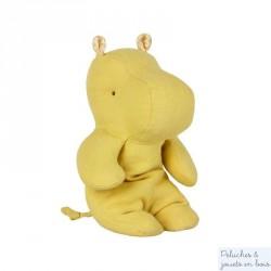 Doudou hippopotame jaune