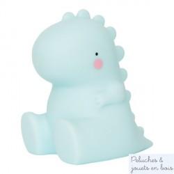 Mini veilleuse T-Rex bleu