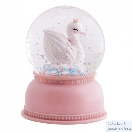 Boule à neige lumineuse Swan