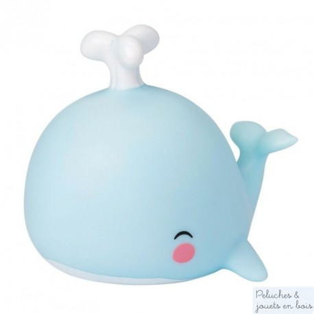 Mini veilleuse Baleine bleu