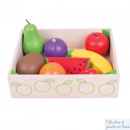 Bigjigs Caisse de fruits en bois