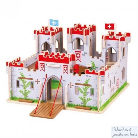 Grand Chateau fort en bois du Roi Arthur Bigjigs JT154