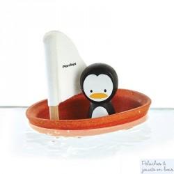 Jouet bain bateau pingouin