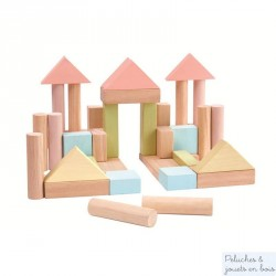 Plan toys Blocs construction pastel