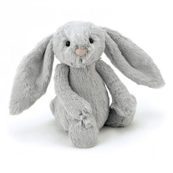 Grand lapin peluche gris