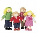 Famille de La Ferme 4 poupées articulées en bois Tidlo T0126