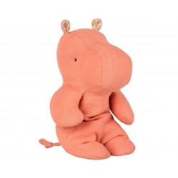 Doudou hippopotame rose