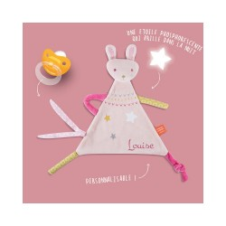 Doudou lapin personnalisable Z'anepasperdre
