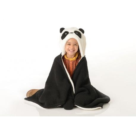 Plaid Panda noir et blanc