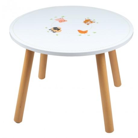 Table Thème Animaux de la  Jungle Mobilier Enfant en bois Tidlo