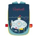 Sac à dos Le sous-marin Prénom à broder personnalisable