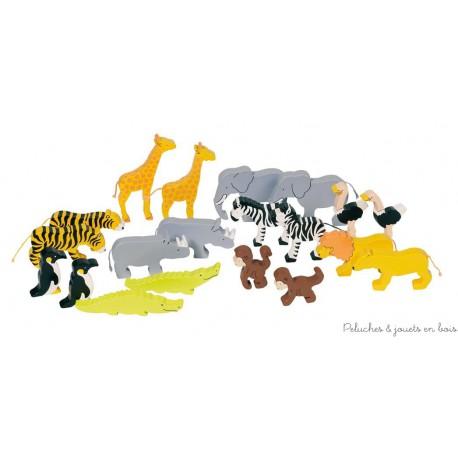 set d'animaux d'Afrique, le set