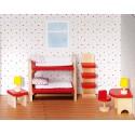 Meubles pour maison de poupée Chambre à coucher des enfants Goki