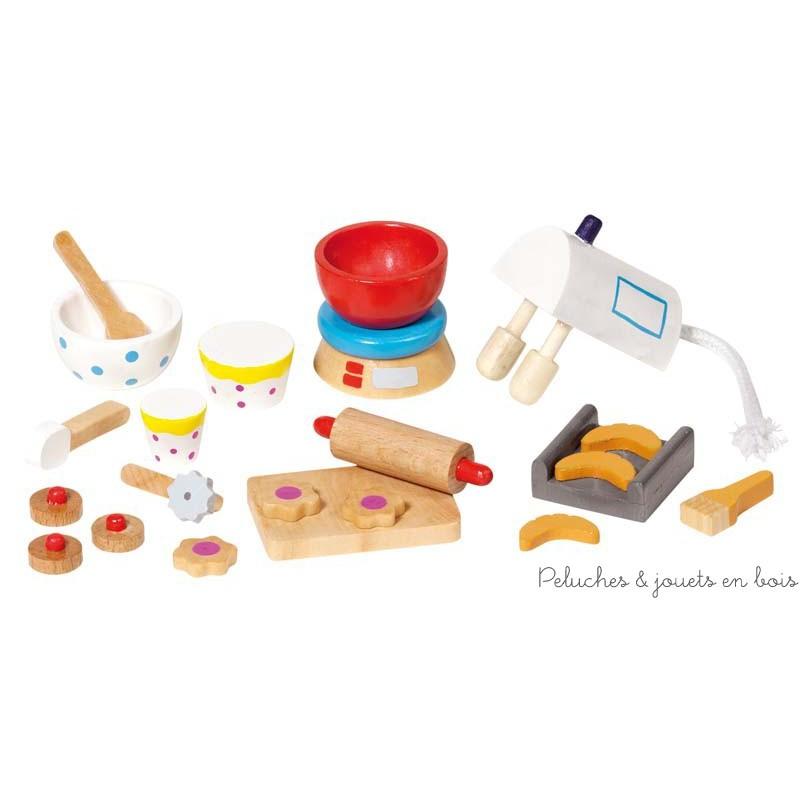 22 accessoires de p tisserie en bois pour maison de poup e for Accessoires decoratifs maison
