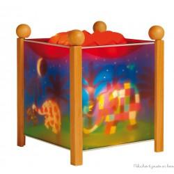 """Lanterne magique """"Elmer© l'éléphant"""" - Naturel 12V"""