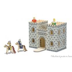Château-fort en bois avec ses figurines