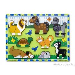 Puzzle à grosses pièces mes animaux domestiques