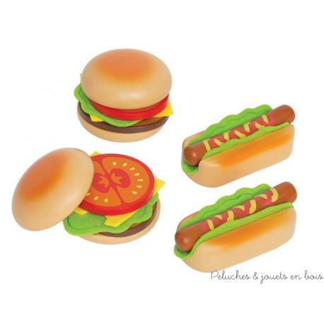 set hamburger et hot dog