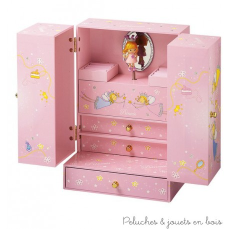 armoire bijoux musicale de la marque trousselier princesse 2 ans. Black Bedroom Furniture Sets. Home Design Ideas