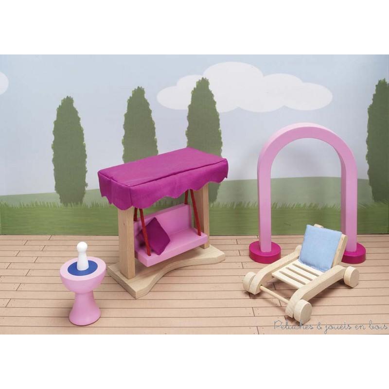 Mobilier du jardin jouet en bois l 39 echelle d 39 1maison de for Maison de jardin en bois jouet