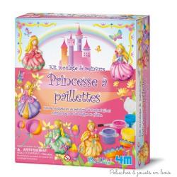 Kit de moulage à peindre Princesse à paillettes