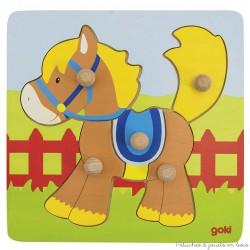 Puzzle à encastrement cheval