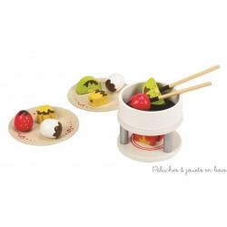 Ensemble fondue au chocolat