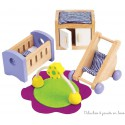 Meubles pour maison de poupée, chambre à coucher de bébé Hape