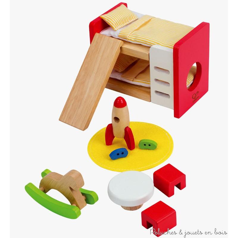 ensemble pour maison de poupées en bois chambre des enfants Hape 3 ans+