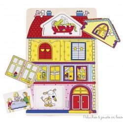 Puzzle avec images cachées, notre maison