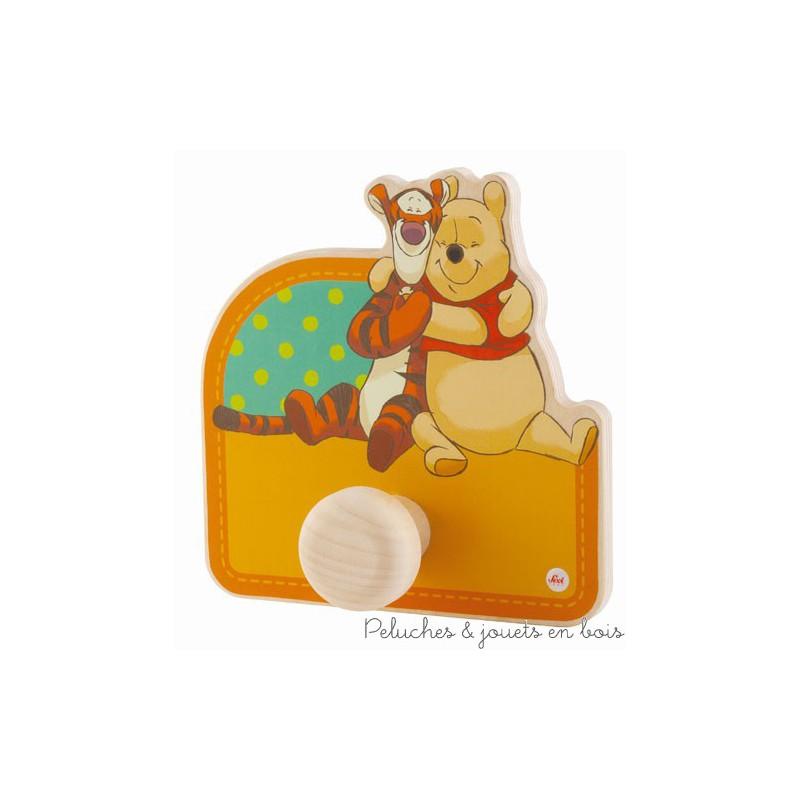 D co de chambre d 39 enfant winnie l 39 ourson porte manteau en for Deco chambre winnie l ourson