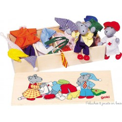 Garde-robe des souris, boite de 8 tenues
