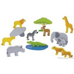 Set des animaux d'Afrique, 14 éléments