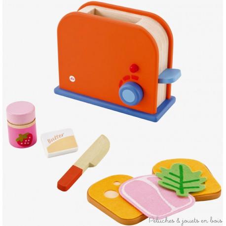 set Grille-pain, pain et confiture